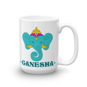 GANESHA TURQUOISE CHAI / COFFEE MUG