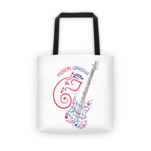 MUSICAL GANESHA Tote bag