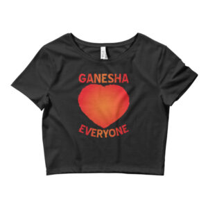 GANESHA LOVES EVERYONE RED Women's Crop Tee