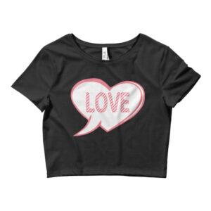 LOVE HEART Women's Crop Tee