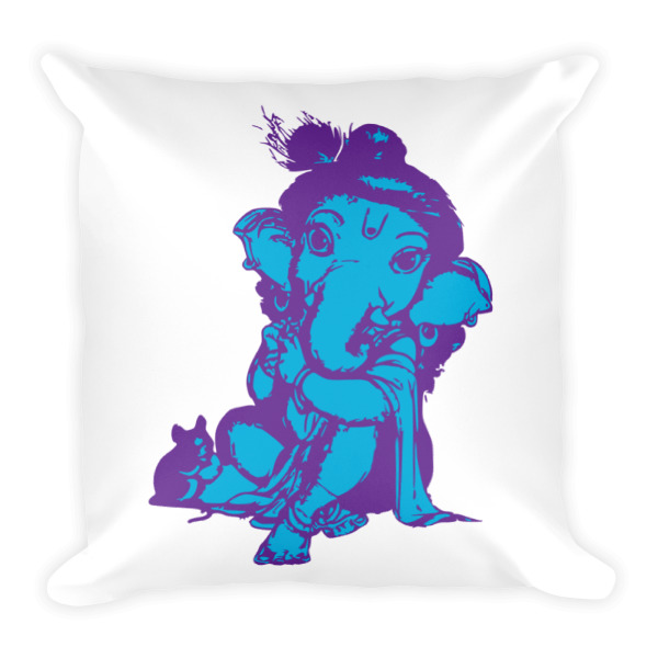 GANESH BABY BLUE / PURPLE Square Pillow