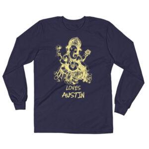 GANESH LOVES AUSTIN  Long Sleeve T-Shirt