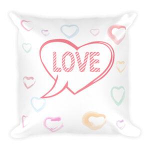 DISCUSS LOVE Square Pillow