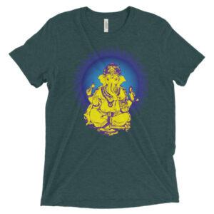 Ganesh Yellow with Blue Short sleeve t-shirt