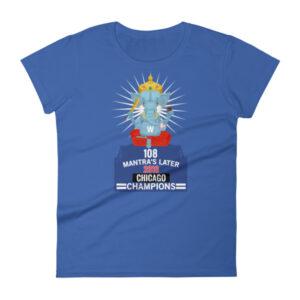 108 MANTRA CHICAGO CHAMPIONS Women's short sleeve t-shirt