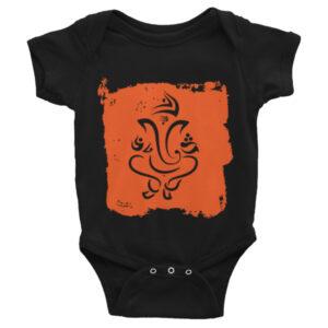 GANESH ORANGE SILHOUETTE Infant Bodysuit